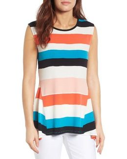 Stretch Knit Stripe Tank