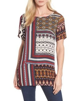Sahara Patchwork Mixed Media Top