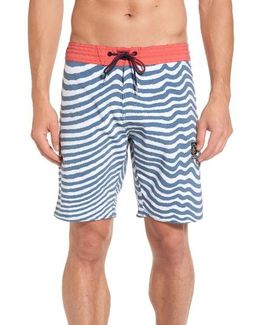Stripey Slinger Board Shorts