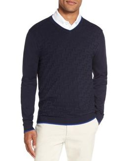 Armstro Tipped Golf Tee Sweater