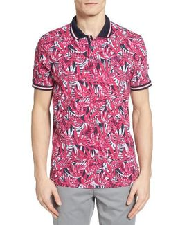 Legolf Leaf Print Golf Polo