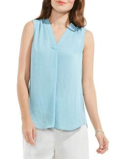 V-neck Rumple Blouse