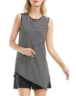 Asymmetrical Stripe Top