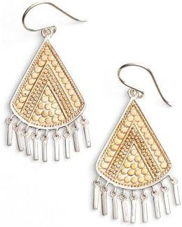 Signature Beaded Fringe Drop Earrings