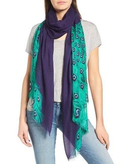 Plume Tissue Weight Oblong Scarf