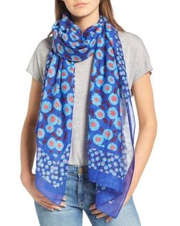 Tangier Floral Cotton & Silk Oblong Scarf
