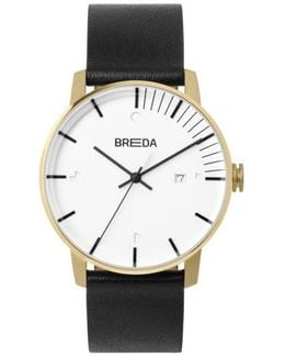 Phase Leather Strap Watch