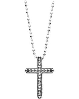 Signature Caviar Cross Pendant Necklace