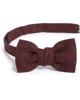 New Classic Texture Knit Silk Bow Tie