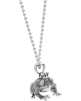 Rare Wonders Frog Prince Pendant Necklace