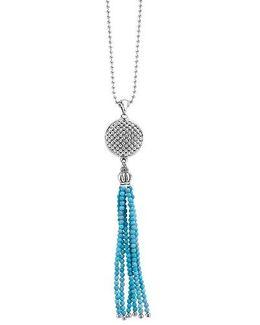 Caviar Icon Tassel Pendant Necklace