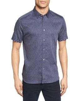 Indee Extra Slim Fit Geo Print Sport Shirt