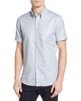 Sweetz Extra Slim Fit Cotton & Linen Sport Shirt
