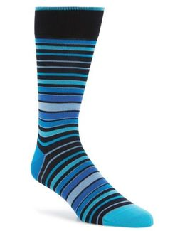 Thick Stripe Crew Socks