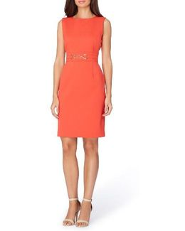 Pique Knit Sheath Dress