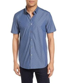 Leeo Extra Slim Fit Chambray Sport Shirt