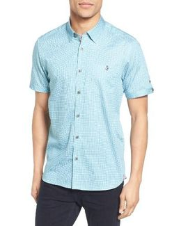 Lorenze Extra Slim Fit Mini Print Sport Shirt