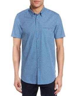 Rinalin Extra Slim Fit Print Sport Shirt