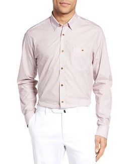 Longmee Extra Slim Fit Geo Print Sport Shirt