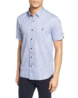 Lorenze Extra Slim Fit Mini Check Sport Shirt