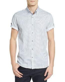 Braaks Extra Slim Fit Flower Print Sport Shirt