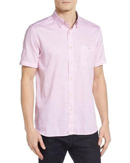 Famgogo Extra Slim Fit Flamingo Print Sport Shirt