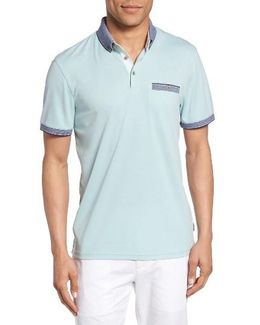 Shapiro Extra Trim Fit Oxford Polo