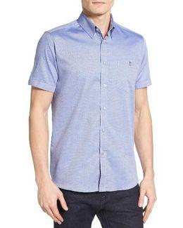 Wooey Extra Slim Fit Mini Texture Sport Shirt