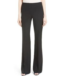 Demitria Stretch Wool Flare Leg Pants