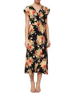 Cassadei Floral Wrap Dress
