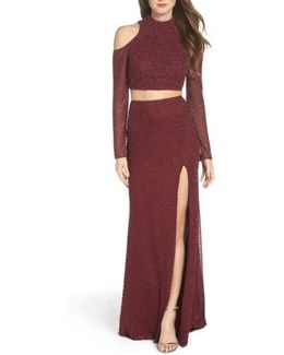 Mesh Two-piece Gown