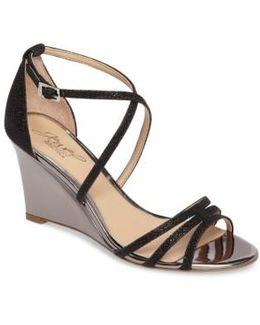 Hunt Glittery Wedge Sandal