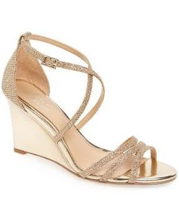 Hunt Glittery Wedge Sandal