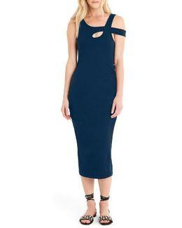 Crossover Strap Midi Dress