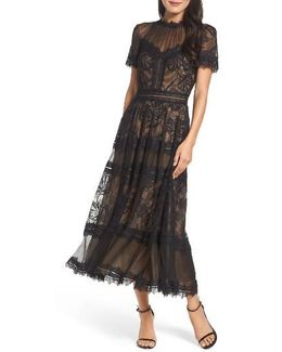 Lace Tea-length Dress