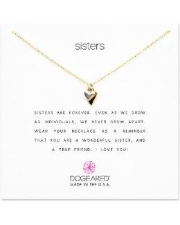 Reminder - Sisters Heart Pendant Necklace