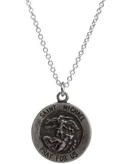 Saint Michael Pendant Necklace
