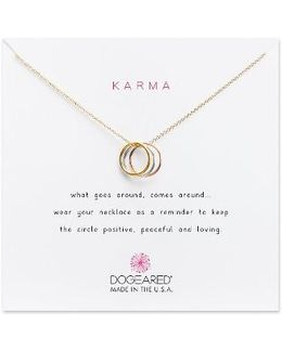 Triple Karma Pendant Necklace