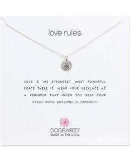 Love Rules Pendant Necklace
