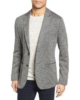 Italy Modern Slim Fit Textured Jersey Blazer