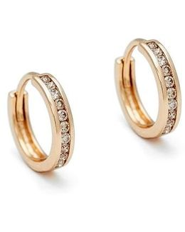 Licol Champagne Diamond Hoop Earrings (nordstrom Exclusive)