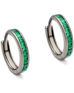 Licol Emerald Hoop Earrings (nordstrom Exclusive)