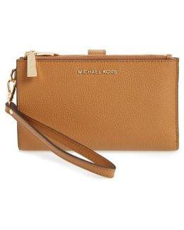 Adele Leather Wristlet