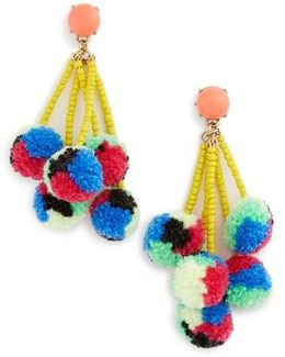 Caicos Pompom Drop Earrings