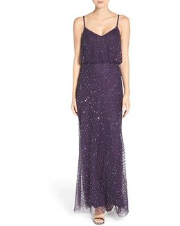 Embellished Blouson Gown