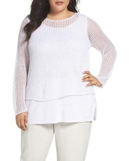 Organic Linen Tiered Sweater