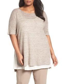 Lightweight Linen Link Stitch Sweater