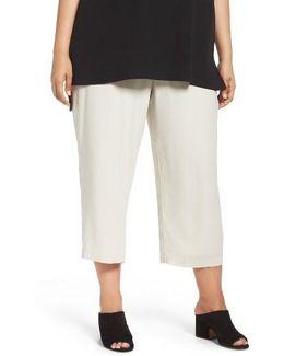 Silk Georgette Crop Pants