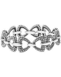 Derby Caviar Connector Link Bracelet