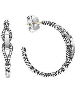 Derby Caviar Hoop Earrings